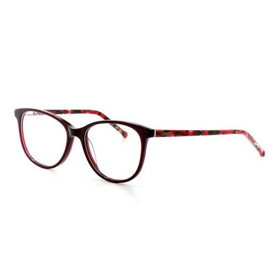 0485a42866790 Armação De Óculos De Grau Cannes 1-03 T 52 C 02 Feminino - Compre ...