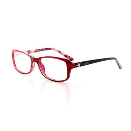 f05889a777932 Armação De Óculos De Grau Cannes 2278 T 51 C 20 Feminino - Compre ...