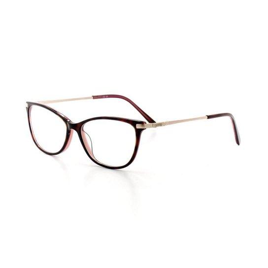 696daa9ecd918 Armação De Óculos De Grau Cannes 2988 T 52 C 2 Feminino - Compre ...