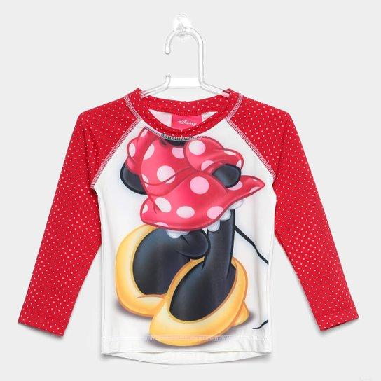 05a394ef4b Camiseta Infantil Tip Top Manga Longa Minnie Menina - Vermelho