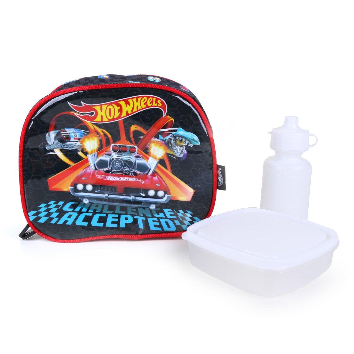 Lancheira Infantil  Luxcel Hotwheels Masculina