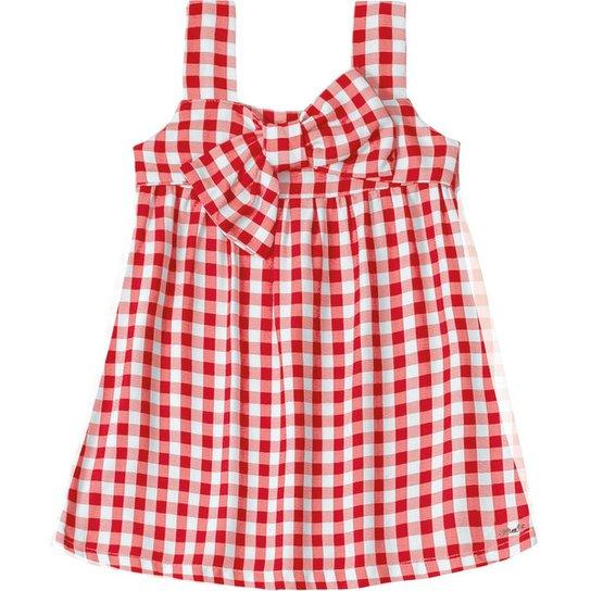 5612c00d6137d Vestido Bebê Xadrez Lilica Ripilica - Vermelho - Compre Agora   Zattini