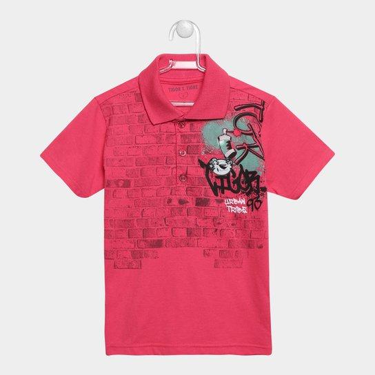 ffad79c7b1 Camisa Polo Tigor T. Tigre Patch Masculina - Vermelho Claro