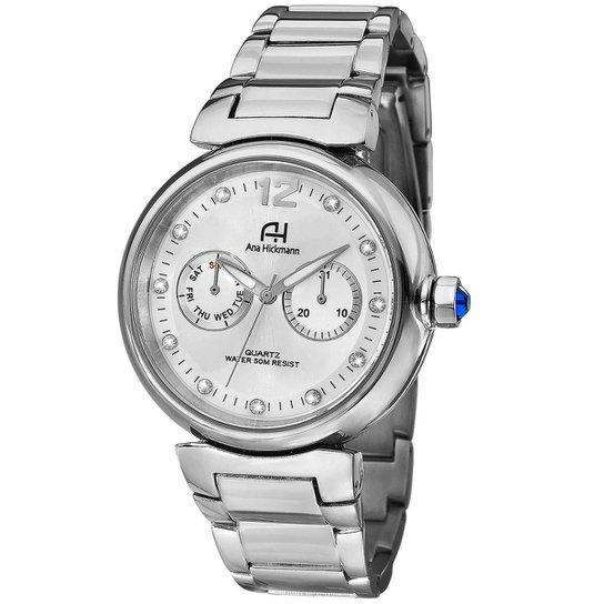 aa028c82526 Relógio Feminino Ana Hickmann AH30175Q - Prata e Chumbo - Compre ...