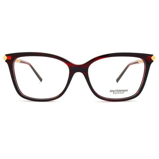 61a12b24d Óculos de Grau Ana Hickmann Feminino - Vermelho | Zattini