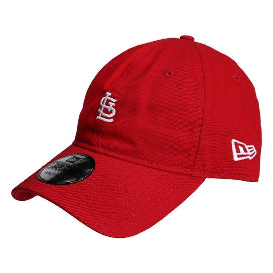 Boné New Era MLB Saint Louis Cardinals Aba Curva 940 St Lic 2041 FA17 -  Vermelho 96f6ea03caf