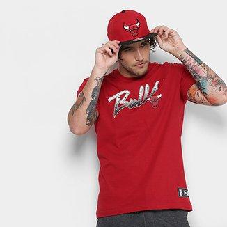 14c4353423 Camiseta NBA Chicago Bulls New Era 03 Craquelado Masculina