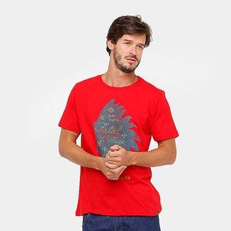 3ed51f9b3e Camiseta Fatal Índio Perfil Masculina