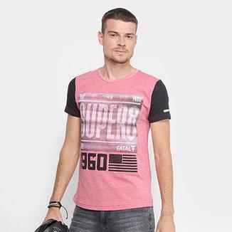 Camiseta Fatal Gola Careca Estampada Masculina 11e67f86c8b20