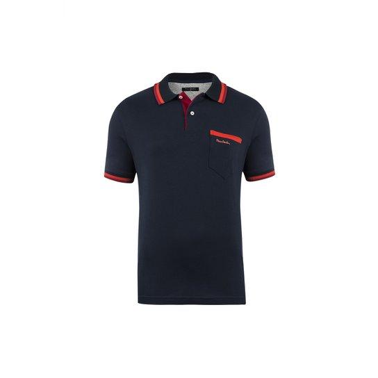 fb0726961b Camisa Polo Pierre Cardin Navy Details Masculina - Compre Agora ...