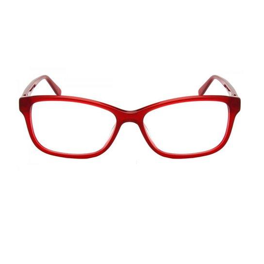 5ece42529a9f8 Armação Óculos de Grau Pierre Cardin PC8447 C9A 5,5 cm - Vermelho ...