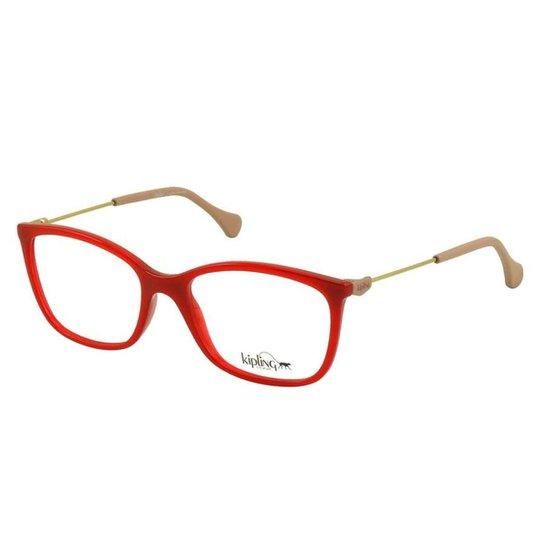 08a24dd469ab2 Óculos de Grau Kipling Feminino - Vermelho - Compre Agora