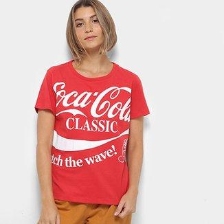 fcded6045e Camiseta Coca-Cola Logo Com Aroma Feminina