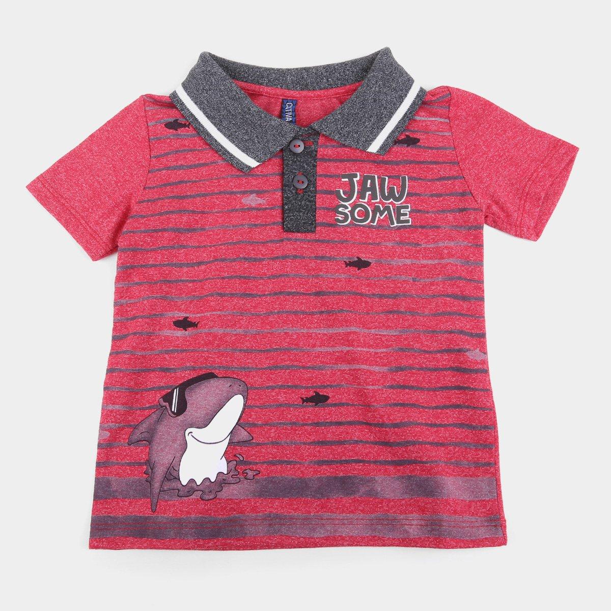 Camisa Polo Bebê Cativa Jaw Some Masculina