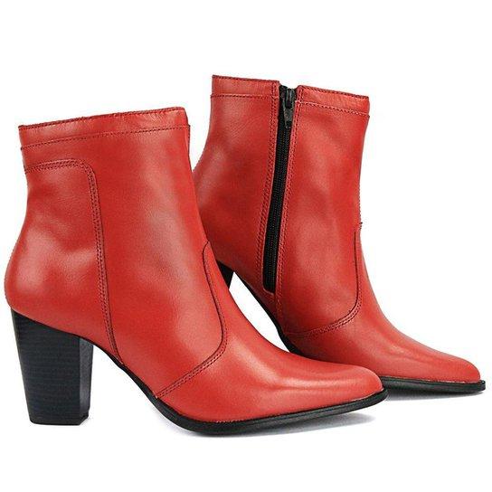 ba968bb467 Bota Sapato Fran Coturno Cano Baixo Feminina - Vermelho | Zattini