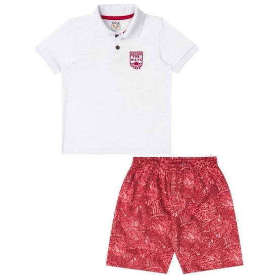 Conjunto Infantil Boca Grande Masculino - Vermelho - Compre Agora ... 70566cd5fcec0