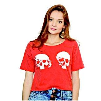 66a538d5100d2 Camiseta Cropped Nalu Rio CaveiraCamiseta Cropped Nalu Rio Caveira Feminino