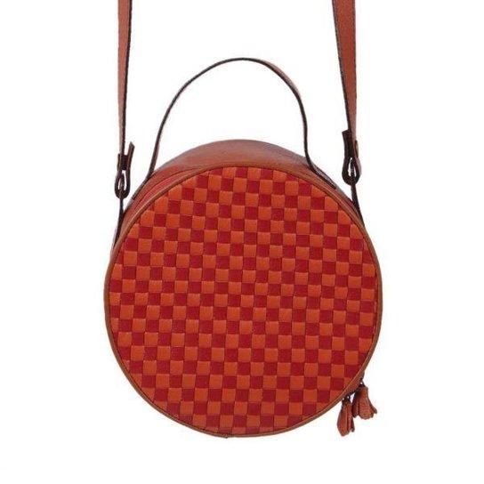 5956c27e6 Bolsa Feminina Transversal Couro Mantoan Redonda - Compre Agora ...