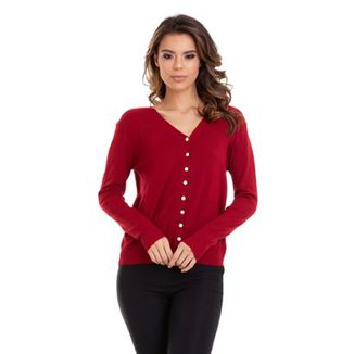 7a5511dbe Cardigan Tricot Liso