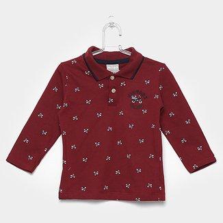 Camisa Polo Infantil Milon Manga Longa Masculina 661131e634c