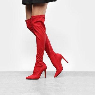 b6fa4bf31 Bota Over The Knee Luiza Barcelos Elastano Ecowear Feminina