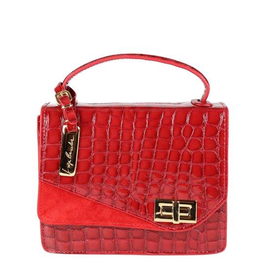 81478606cc Bolsa Couro Luiza Barcelos Flap Croco Feminina - Vermelho - Compre ...