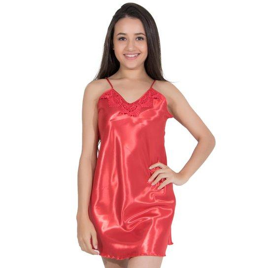d1c4bf572 Camisola Linha Noite de Cetim - Vermelho | Zattini