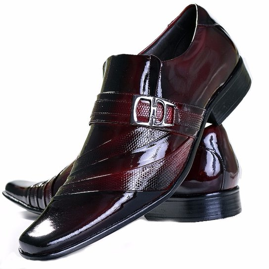 03979cbe8 Sapato Social Envernizado Gofer Couro - Vermelho
