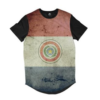 Camiseta Longline BSC Bandeira Paraguai Sublimada Masculina 0b1271fbfd3