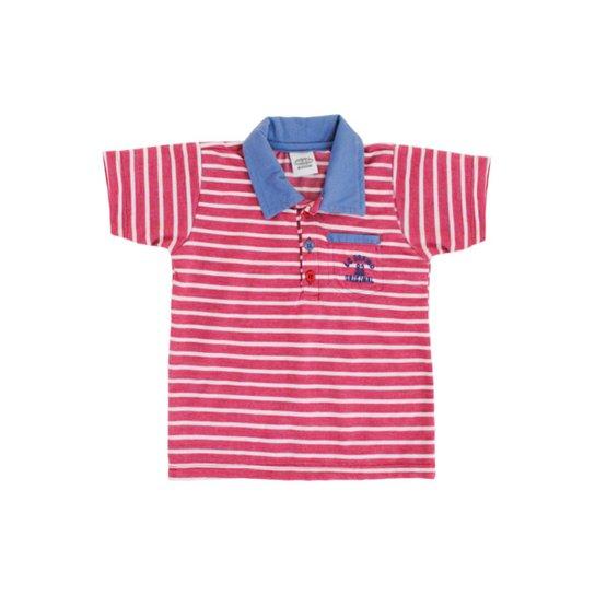 e4d4643de7 Camisa Polo Bebê Lápis de Cor Listrado Masculino - Vermelho - Compre ...