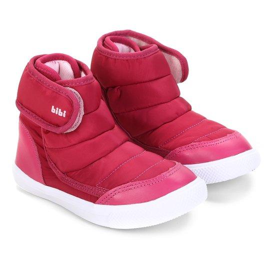 4dfd4afb2 Tênis Cano Alto Infantil Bibi Velcro Matelassê Agilityt Mini Feminino -  Rosa Escuro