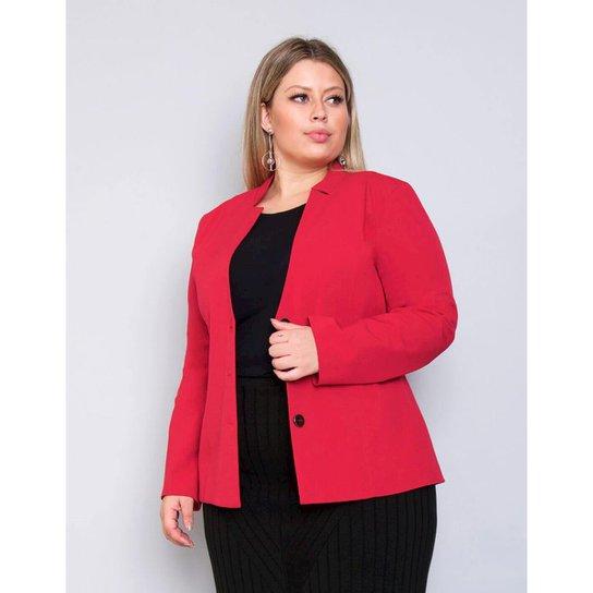 59f84450e836 Blazer Plus Size Palank Energia Feminina - Vermelho | Zattini