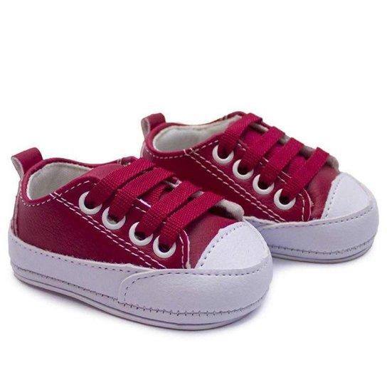 82c84a93d0e Tênis Bebê Baby Way Com Cadarço Feminino - Vermelho - Compre Agora ...