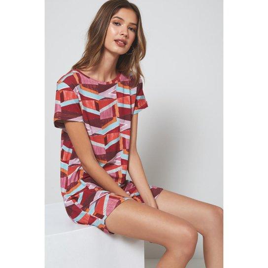 0e27cd36c69d Vestido Oh,Boy! Camiseta Feminino - Vermelho | Zattini