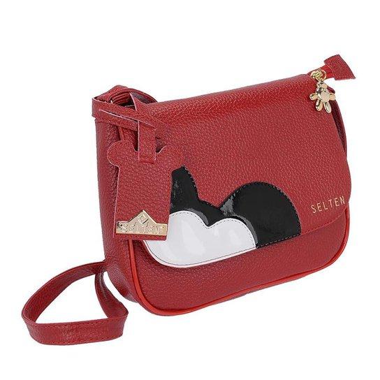 e76d99991 Bolsa Pequena Transversal Selten Feminina - Vermelho | Zattini