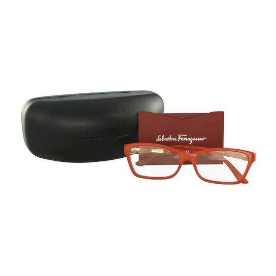 ce9538d561590 Óculos de Grau Salvatore Ferragamo Casual - Vermelho - Compre Agora ...