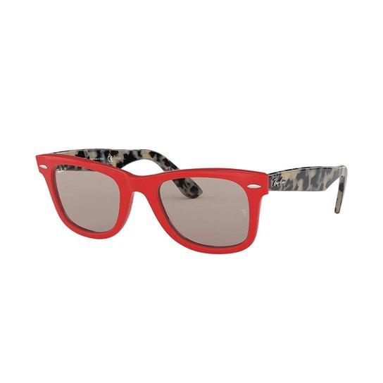Óculos de Sol Ray-Ban RB2140 Original Wayfarer Feminino - Vermelho ... 206f898cd4