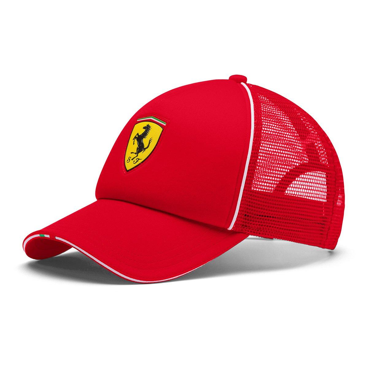 Boné Trucker Puma Ferrari Fanwear Aba Curva