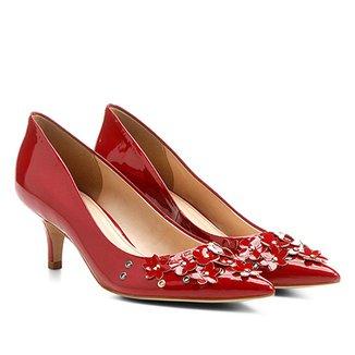 b221c1d293 Scarpin Shoestock Salto Médio Flores