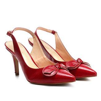 67b8285e6c Scarpin Couro Shoestock Salto Alto Verniz