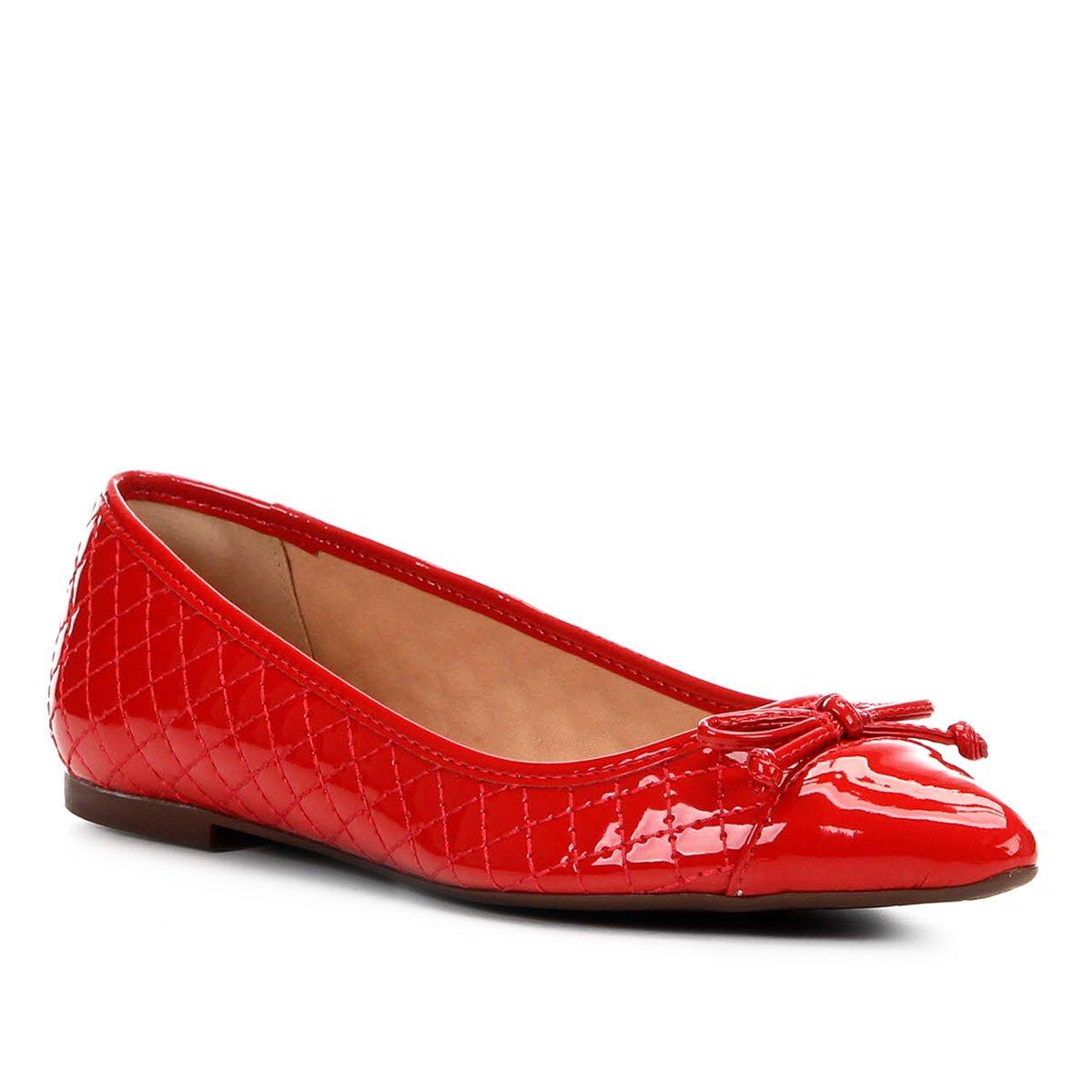 d37ee6515 Sapatilha Shoestock Matelassê Bico Fino Laço Feminina