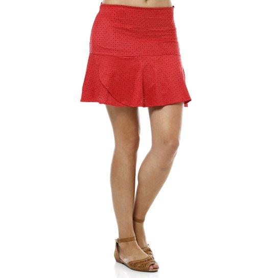037fd95f60 Saia Curta Feminina Vermelho - Compre Agora