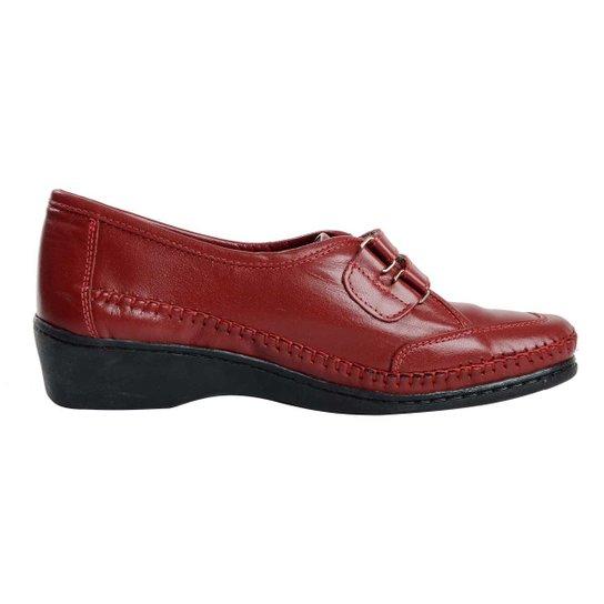 37d7d3157 Sapato Fechado Confort Em Couro De Cabra - Vermelho | Zattini