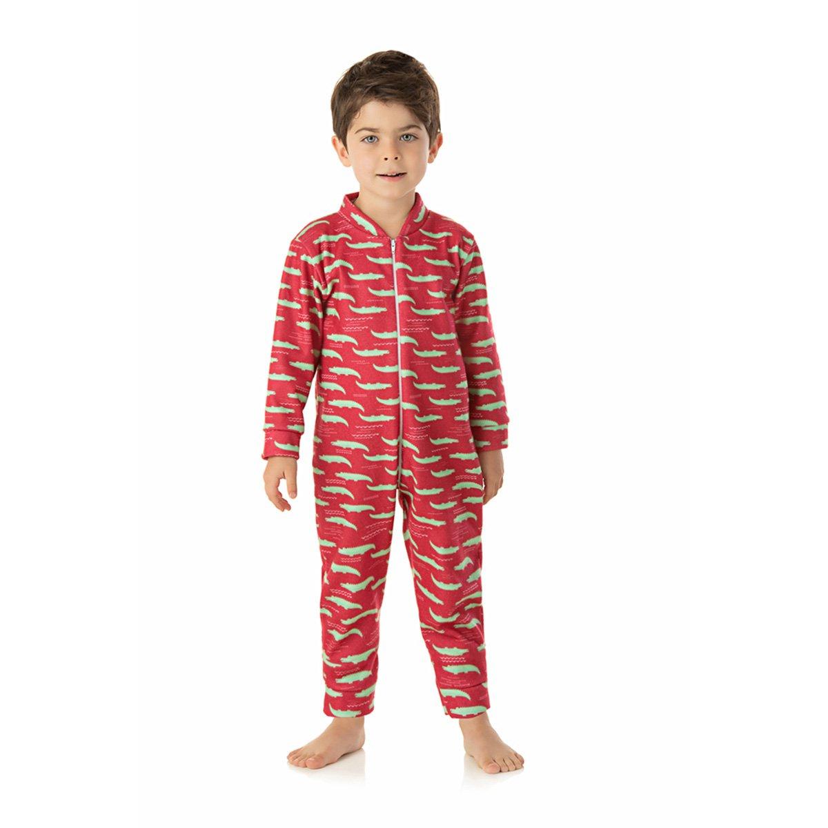 Pijama Macacão Duzizo Soft Estampado Bebê