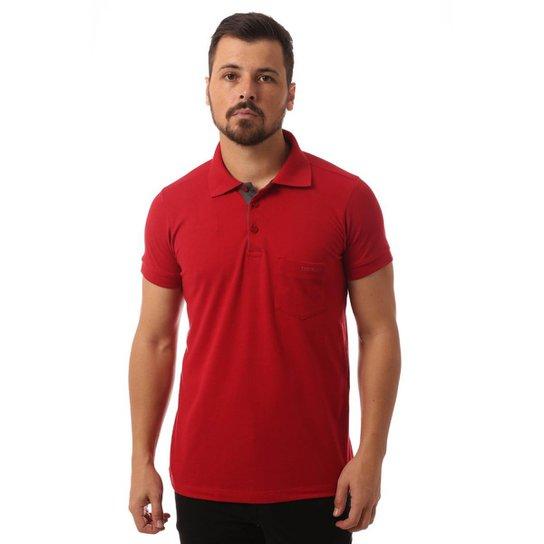 609cfde281 Camisa Polo Osmoze Bolso Masculino - Vermelho