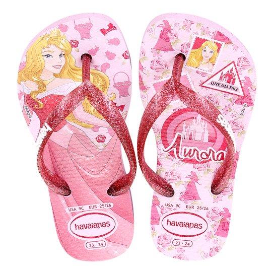 9e52d52e8 Sandália Infantil Havaianas Slim Disney Princesas Feminina - Rosa ...