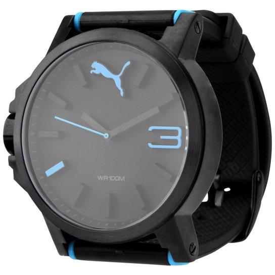 fd0d48de585 Relógio Puma Ultrasize - Preto+Azul Turquesa