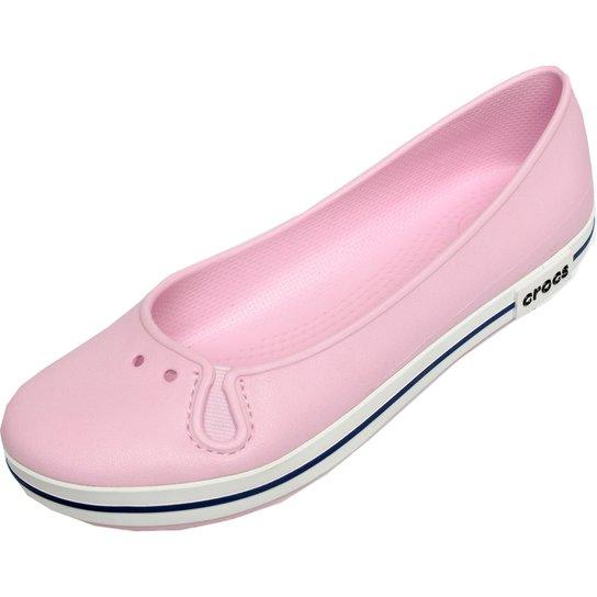 65b1ba1b04 Sapatilha Crocs Crocband Flat - Rosa