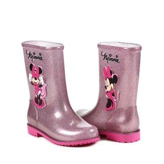 e37617be6bb Bota Infantil Para Menina Disney Galocha Fairytale Rosa