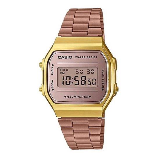 ddbc49e5c12 Relógio Casio Unisex Vintage - Rosa - Compre Agora